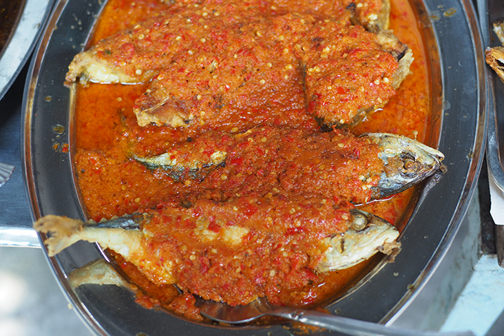 They are generous with the 'sambal' that tops their fried fish
