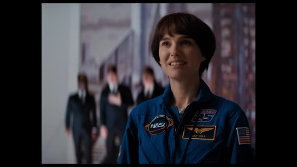 A screengrab from 'Lucy in the Sky' that stars Natalie Portman and Jon Hamm.