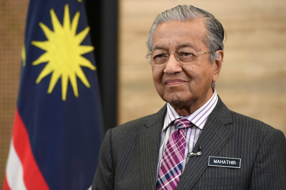 Prime Minister Tun Dr Mahathir Mohamad delivers the 2019 National Day Message at the Prime Minister's Office in Putrajaya August 30, 2019. — Bernama pic