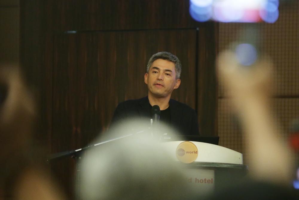 Tsuburaya Productions president Masayuki Nagatake speaks during an Ultraman press conference in Petaling Jaya August 8, 2019. — Picture by Ahmad Zamzahuri