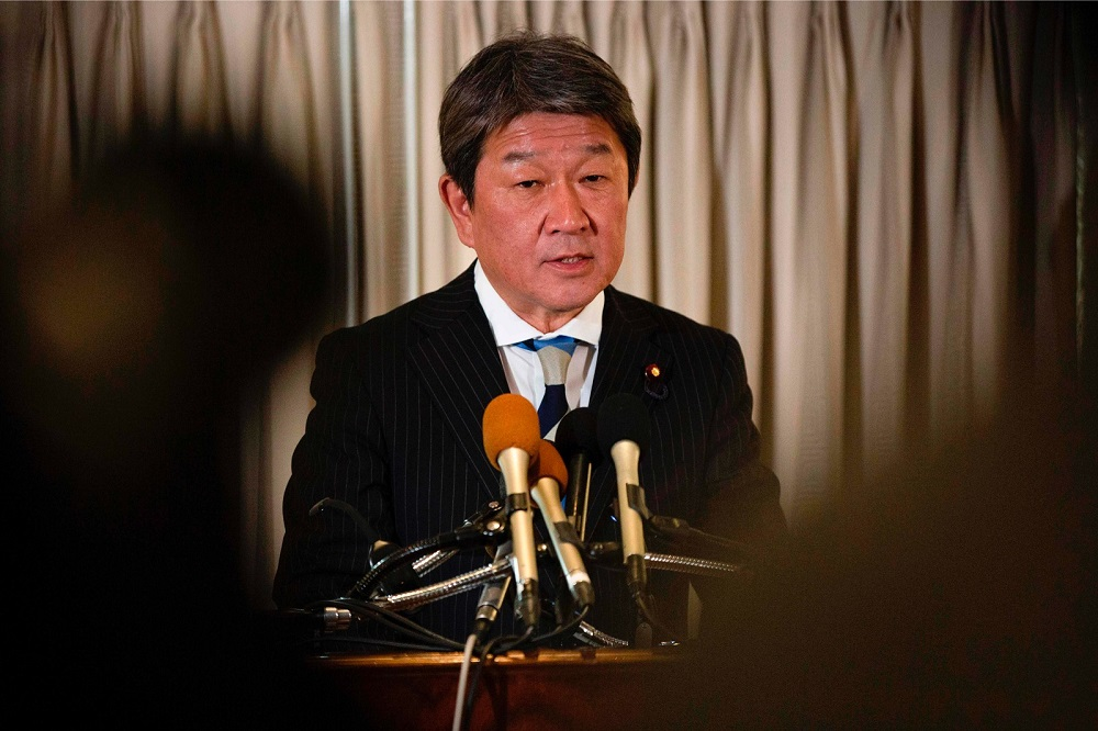 Foreign Minister Toshimitsu Motegi told reporters the flight can carry around 200 passengers, but added about 650 Japanese citizens are hoping to come back to Japan. — AFP pic