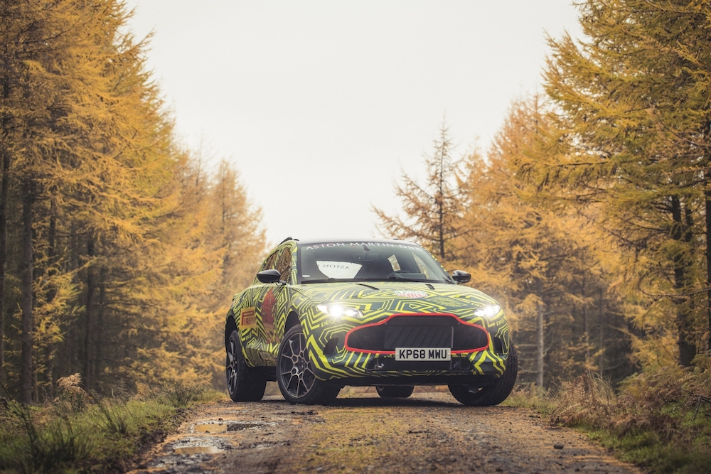 Aston Martin's DBX will be officially unveiled in December 2019. — Handout via AFP