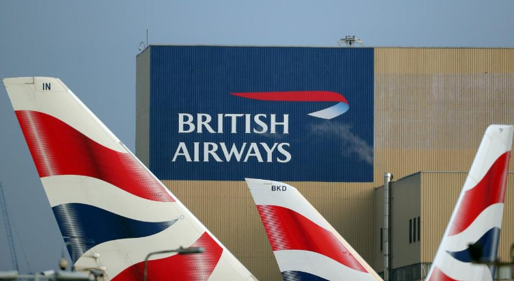 British Airways logos are seen on tail fins at Heathrow Airport in London, February 23, 2018. — Reuters pic