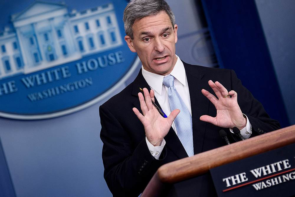 Acting deputy homeland security secretary Ken Cuccinelli insisted that the United States had been trying to send back Iranian nationals. — AFP pic