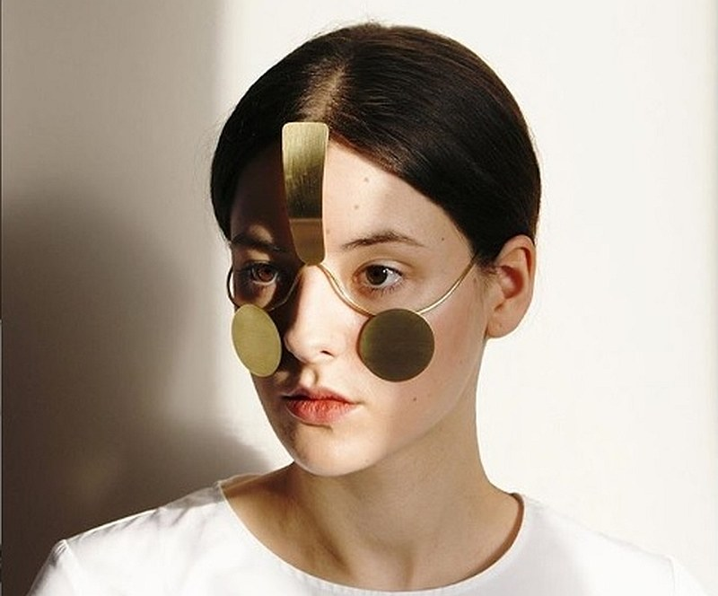 'Incognito' is 'face jewelry' which makes its wearer undetectable to facial recognition technology. — Image courtesy of noma_design_studio/Instagram