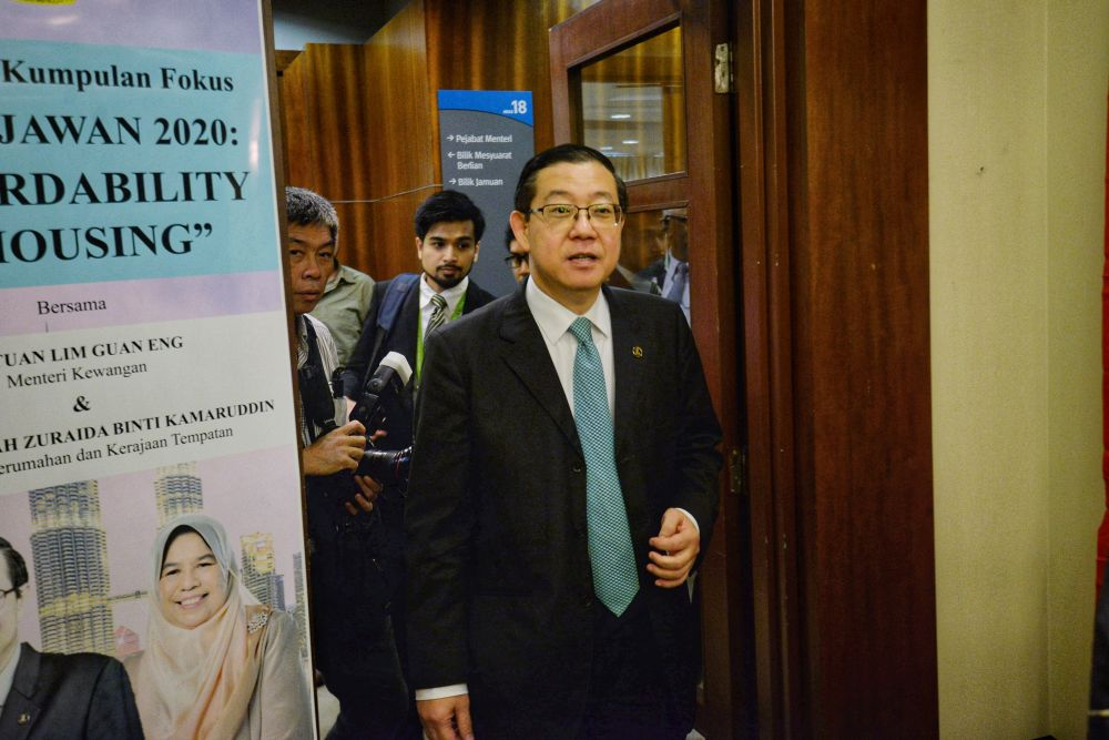 Finance Minister Lim Guan Eng is pictured at the Housing and Local Government Ministry in Putrajaya August 22, 2019. — Picture by Shafwan Zaidon