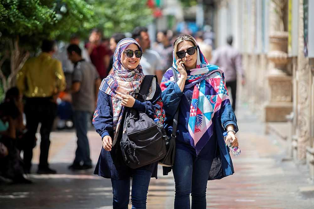 Iranian women walk at Ferdowsi street in Tehran, Iran July 6, 2019. — Nazanin Tabatabaee/Wana pic via Reuters