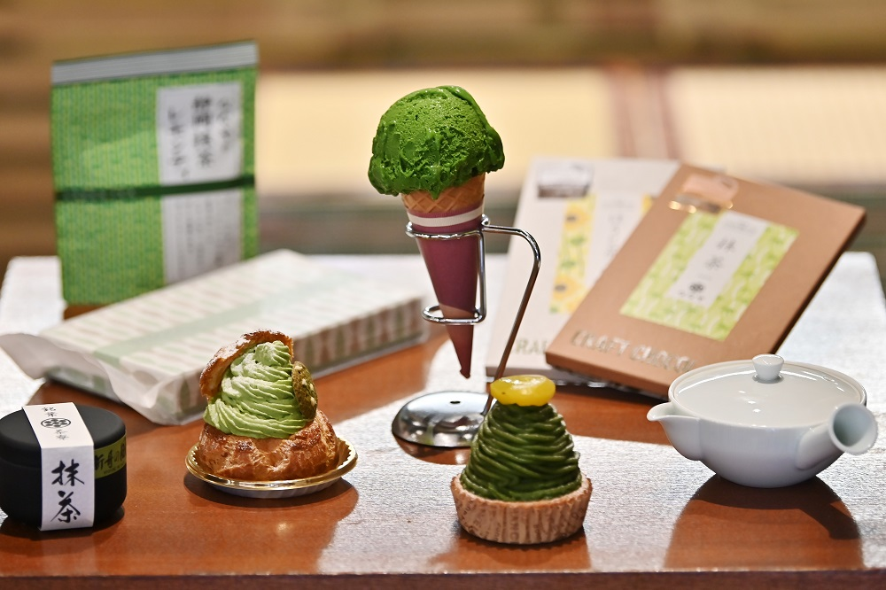 This photo taken on May 16, 2019 shows matcha tea products at a tea shop in Fujieda, Shizuoka prefecture. — AFP pic