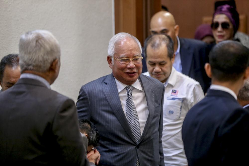 Datuk Seri Najib Razak is pictured at the Kuala Lumpur High Court August 8, 2019. ― Picture by Firdaus Latif