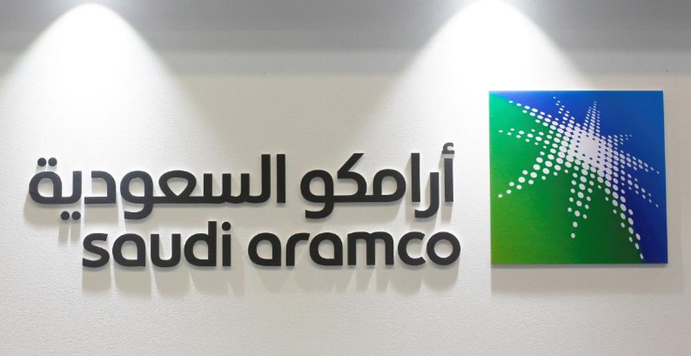 Logo of Saudi Aramco is seen at the 20th Middle East Oil and Gas Show and Conference (MOES 2017) in Manama, Bahrain, March 7, 2017. — Reuters pic