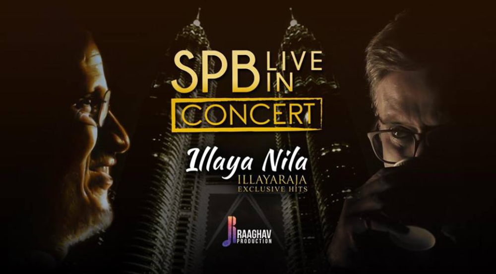 Raaghav Production changed the timing of SP Balasubrahmanyam's concert or 'SPB's Live In Concert Illaya Nila' at the Plenary Hall, KLCC, to 3pm instead of 7pm. — Picture via Facebook/Raaghav Production