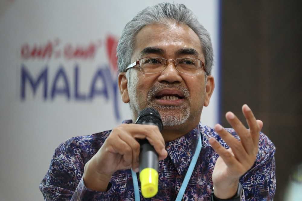 Tourism Malaysia director-general Datuk Musa Yusof speaks during a press conference in Putrajaya August 15, 2019. ― Picture by Yusof Mat Isa