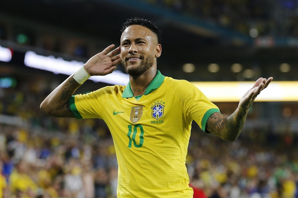 Neymar was chosen to lead the Selecao as they launch their 2022 World Cup qualifying campaign next month. — AFP pic
