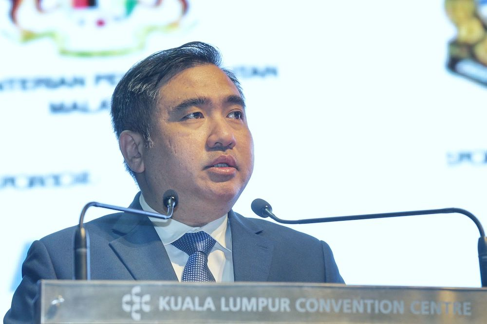 Transport Minister Anthony Loke speaks at the launch of the Malaysia World Maritime Week 2019 in Kuala Lumpur  September 10, 2019. — Picture by Ahmad Zamzahuri