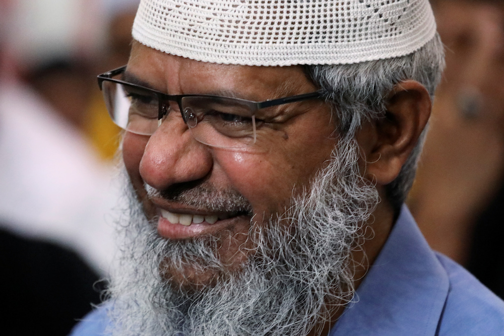 Tan Sri Muhyiddin Yassin said Dr Zakir Naik's MyPR card was issued by the National Registration Department (NRD) in accordance with Subsection 5(3)(b) of the Regulations National Registration 1990. — Reuters pic