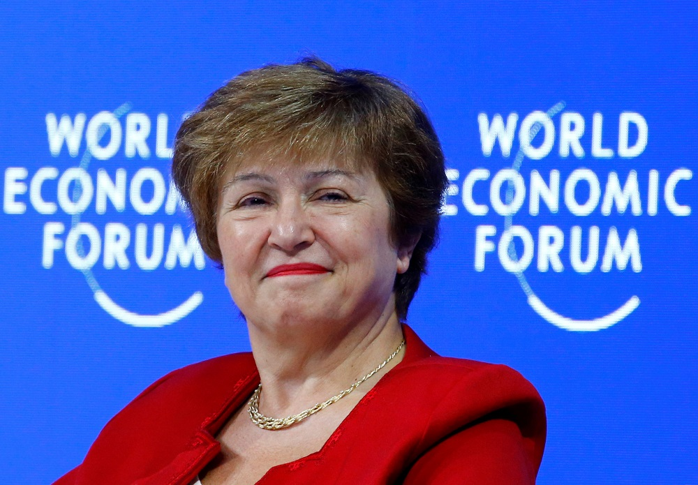Kristalina Georgieva said her priority would be to help the bank's 189 member countries minimise risks. The bank would aim to be attentive to all members, big or small. — Reuters pic