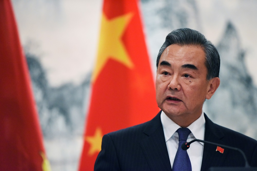 China's top diplomat Wang Yi said there were still many issues between the two sides that needed to be addressed. — Reuters pic