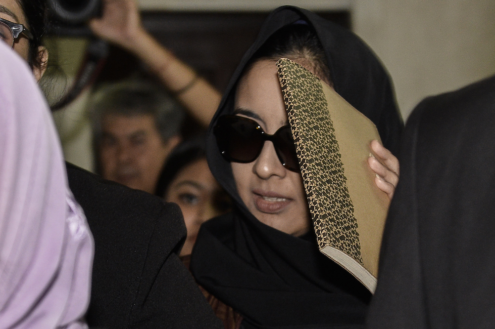 Samirah Muzaffar, who is accused of murdering her husband, Cradle Fund CEO, Nazrin Hassan, attends her trial at the Shah Alam High Court in this file picture taken on September 6, 2019. — Picture by Miera Zulyana