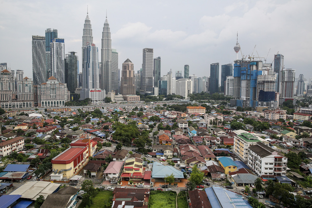 Malaysia's GDP growth over the next 10 years is expected to average 3.4 per cent annually versus the 6.4 per cent in the preceding decade. — Picture by Yusof Mat Isa