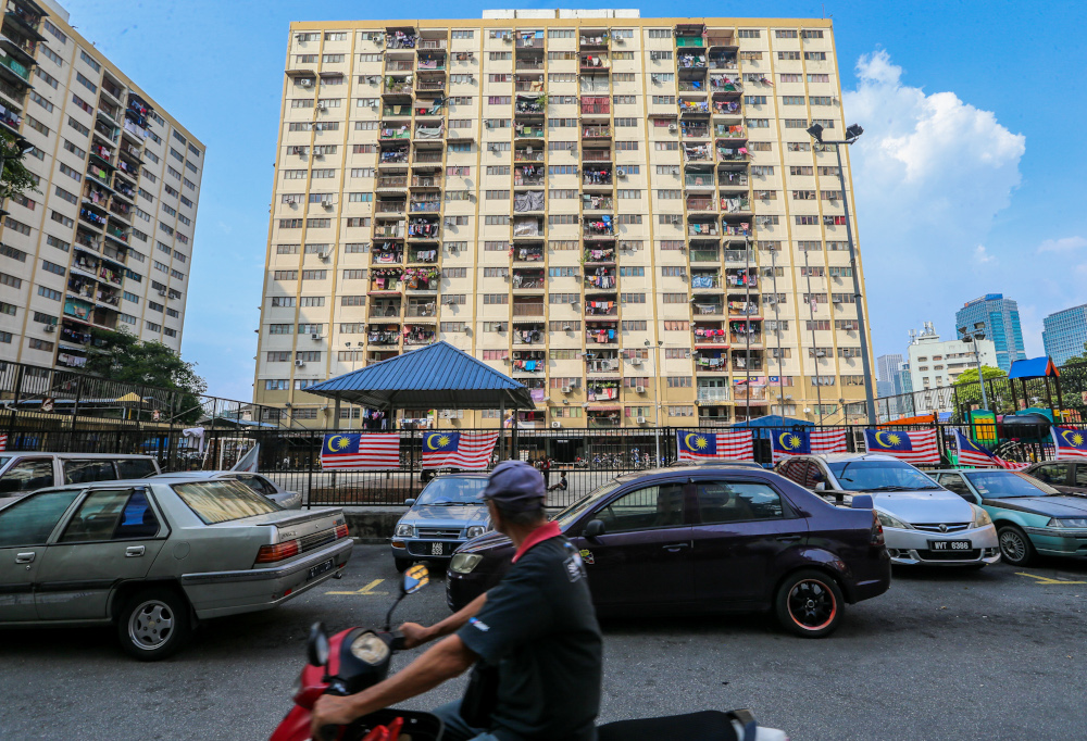 A general view of the Seri Pahang People's Housing Projects in Kuala Lumpur September 28, 2019. — Picture by Firdaus Latif