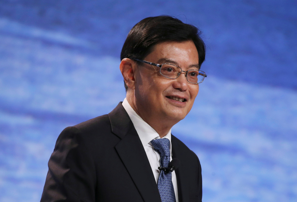 Singapore's Finance Minister Heng Swee Keat speaks at a UBS client conference in Singapore, January 14, 2019. — Reuters pic