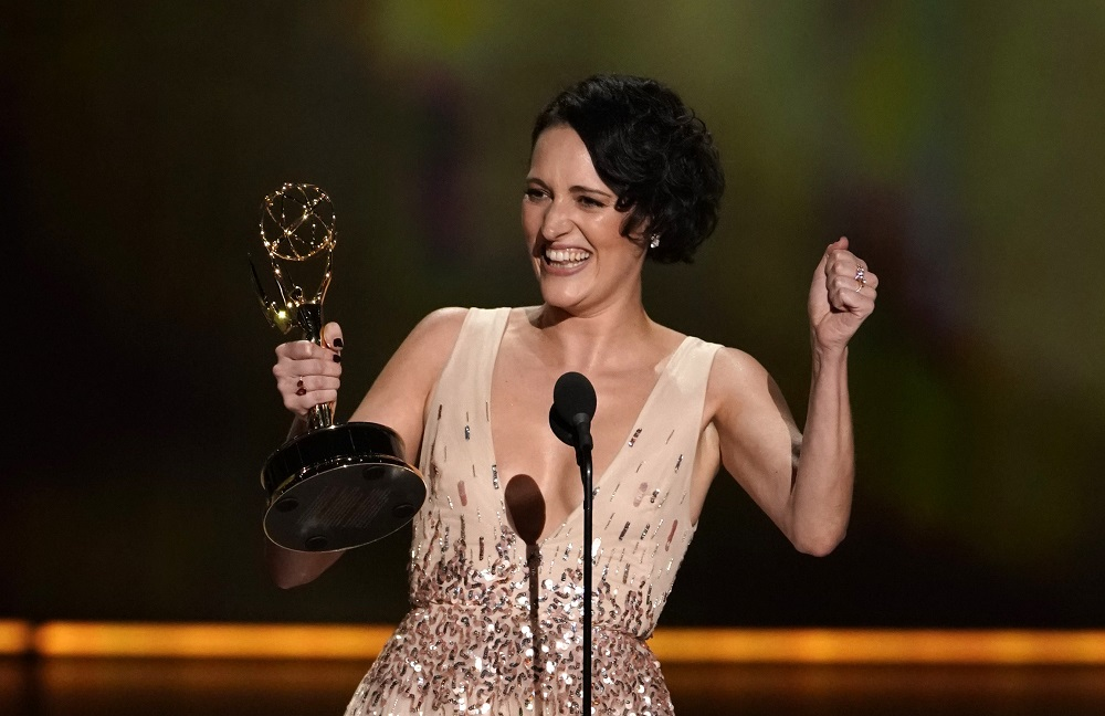 Phoebe Waller-Bridge accepts the award for Lead Actress in a Comedy Series for 'Fleabag' at the 71st Primetime Emmy Awards in Los Angeles, California September 22, 2019. — Reuters pic