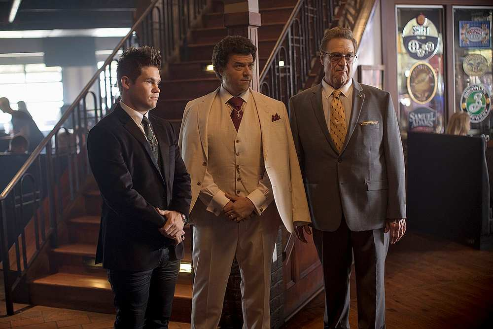(From left) Devine, McBride and Goodman in a scene from the dark comedy. — Picture courtesy of HBO