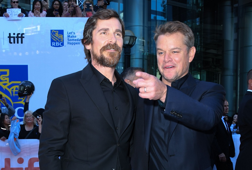 Actors Christian Bale (left) and Matt Damon attend the 'Ford v Ferrari' premiere at the Roy Thompson Hall during the 2019 Toronto International Film Festival in Toronto, Ontario  September 9, 2019. — AFP pic