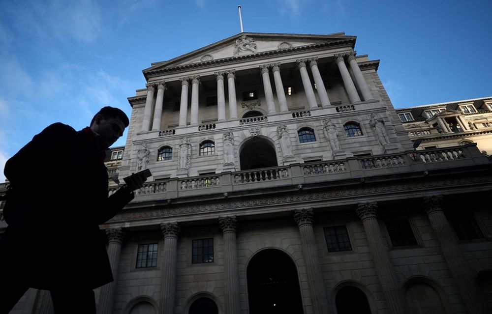 A man walks past the Bank of England in the City of London, February 7, 2019. — Reuters pic