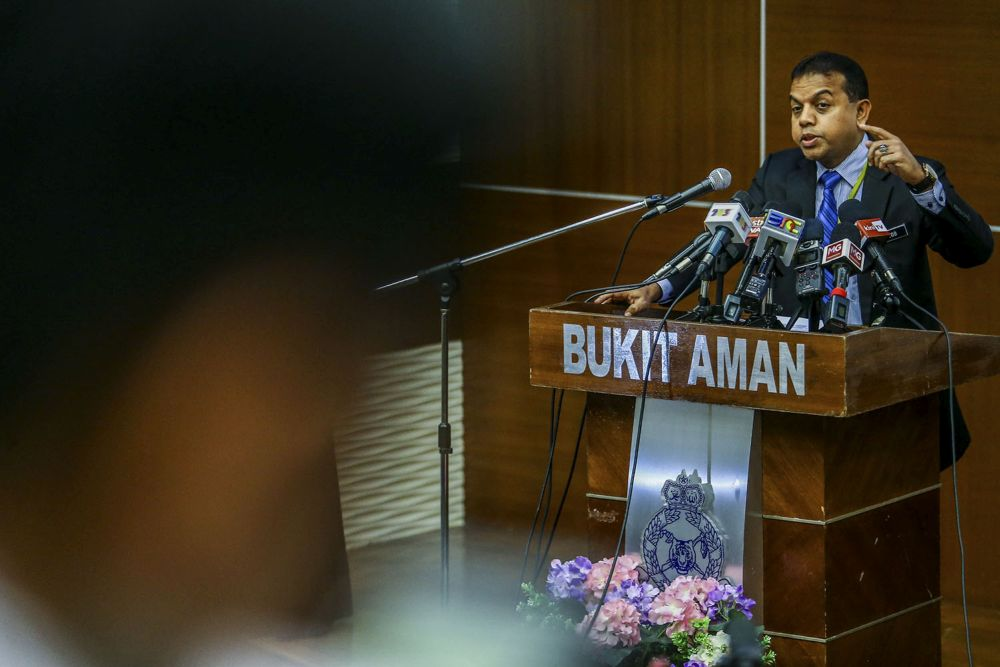 Ayob explained that the counter terrorism operations spanned from July 10 to yesterday, resulting in the arrests of three Malaysians, 12 Indonesians and one Indian national. — Picture by Hari Anggara