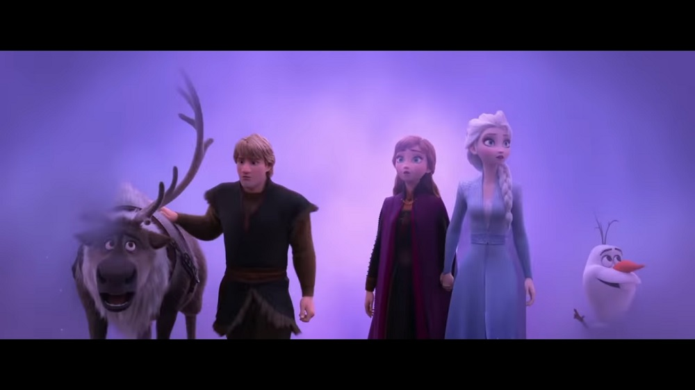 A screengrab from 'Frozen II' that features the voice talents of Kristen Bell, Idina Menzel, Jonathan Groff, Josh Gad,  Rachel Wood and Sterling K. Brown.