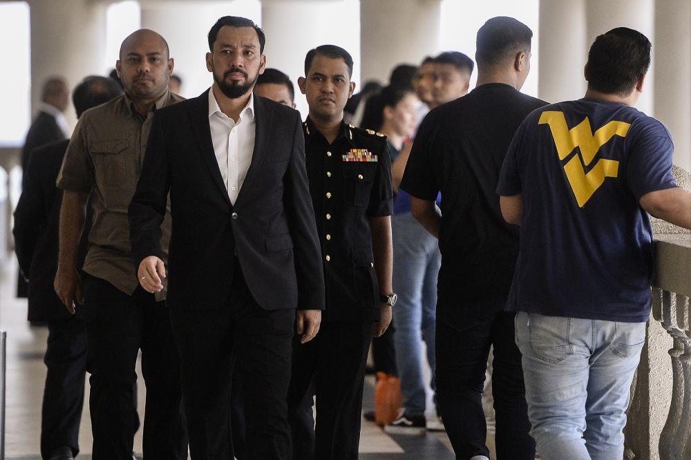 Datuk Seri Najib Razak's former aide Datuk Amhari Efendi Nazaruddin is pictured at the Kuala Lumpur High Court September 4, 2019.  — Picture by Miera Zulyana