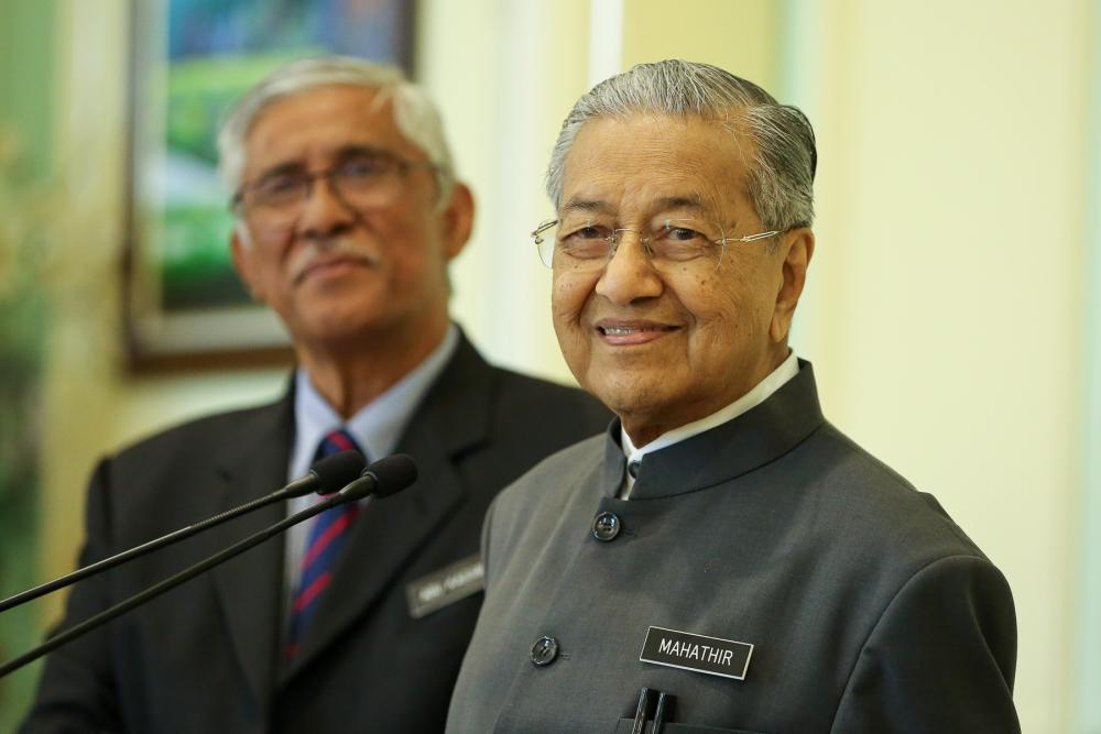 Prime Minister Tun Dr Mahathir Mohamad speaks during a press conference in Putrajaya September 19, 2019. ― Picture by Yusof Mat Isa