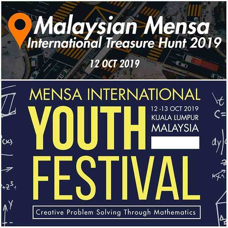 Malaysian Mensa Society has a string of events lined up, including the Mensa International Youth Festival, which engages in creative problem-solving through mathematics. — Picture via Facebook/MalaysianMensa