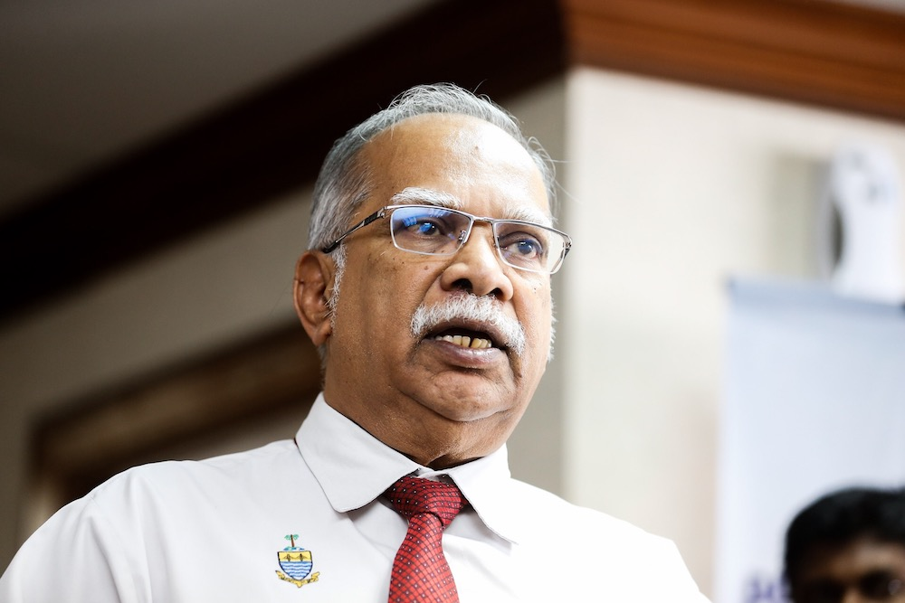Penang Deputy Chief Minister II P. Ramasamy gave his statement at Bukit Aman in connection with an article published in a news portal recently. — Picture by Sayuti Zainudin