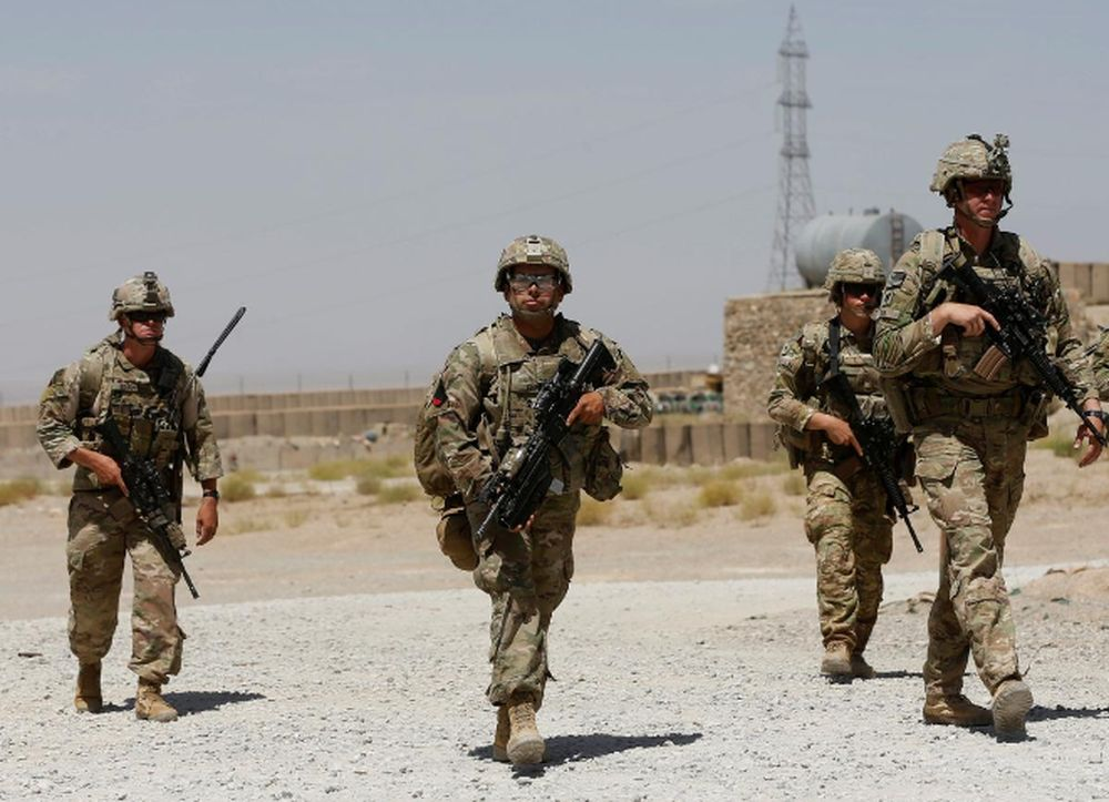 File picture shows US troops patrolling at an Afghan National Army (ANA) Base in Logar province, Afghanistan, August 7, 2018. — Reuters pic