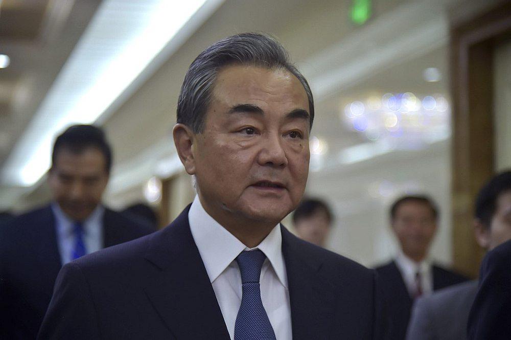 China's Foreign Minister Wang Yi at the Pyongyang International Airport September 2, 2019. — AFP pic