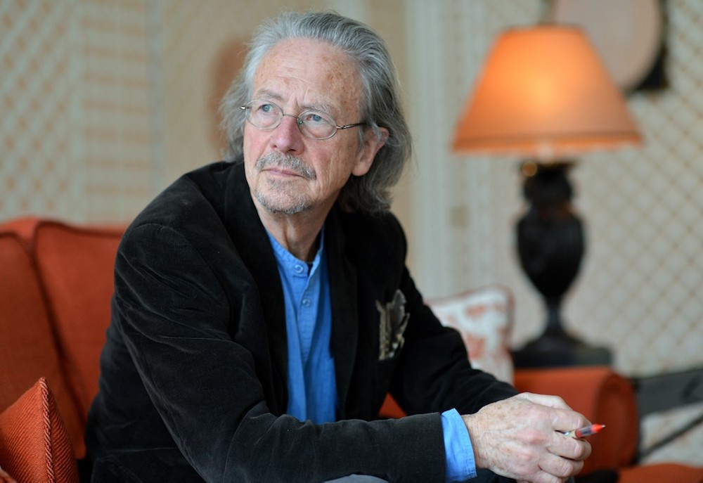 Austrian novelist and playwright Peter Handke is seen in Salzburg November 22, 2012. — AFP pic