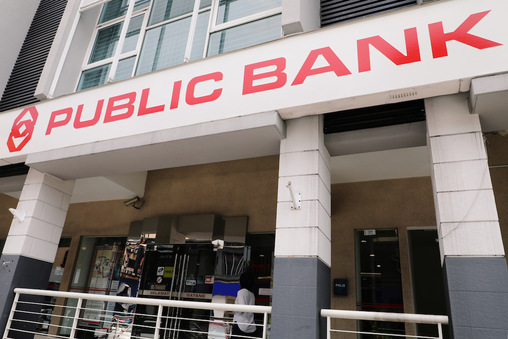 Public Bank said it is very concerned about the impact of Covid-19 on the nation and hopes this extended financial assistance will provide additional relief to its customers. — Reuters pic