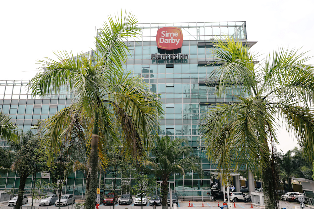 A general view of the Sime Darby Plantation headquarters in Petaling Jaya October 2, 2019. — Reuters pic