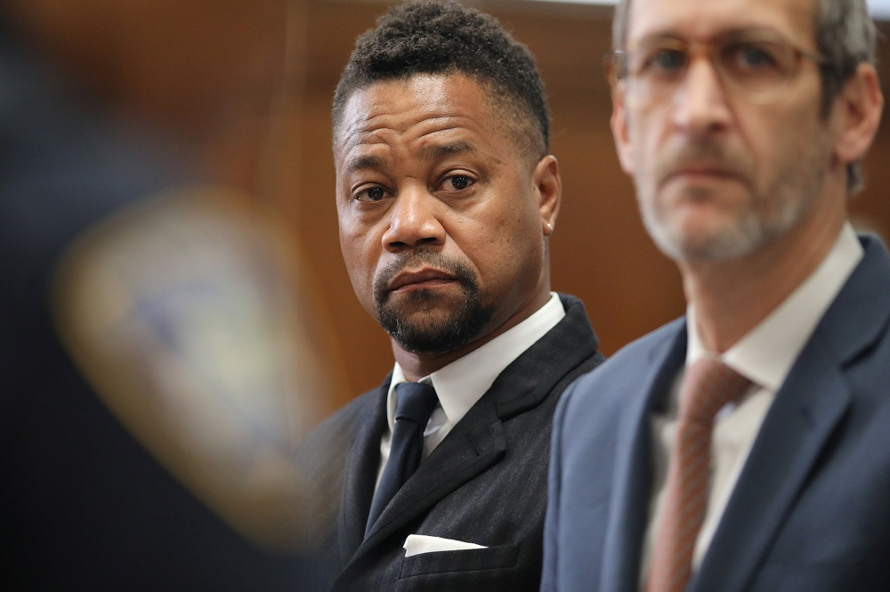 Actor Cuba Gooding Jr was previously charged with one count of forcible touching and one count of sexual abuse in connection with each of the first two accusers. He pleaded not guilty on October 15. — Reuters pic