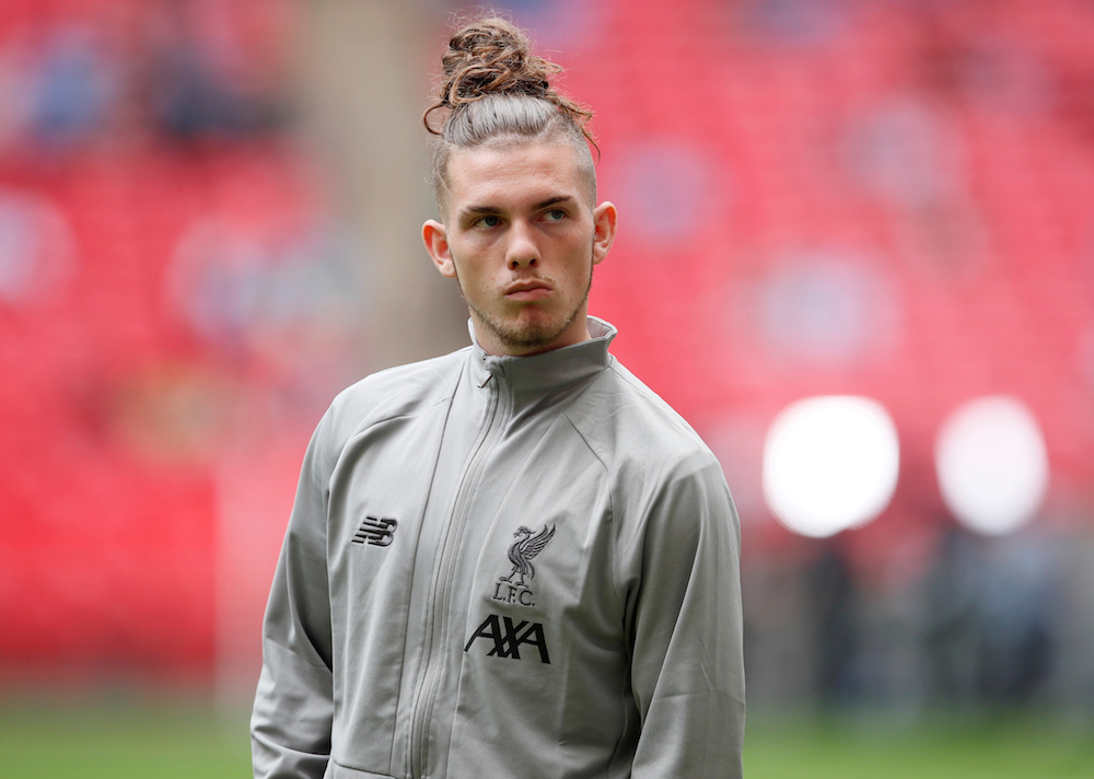 Liverpool's Harvey Elliott inside the stadium before the Community Shield match with Manchester City in London August 4, 2019. — Reuters pic