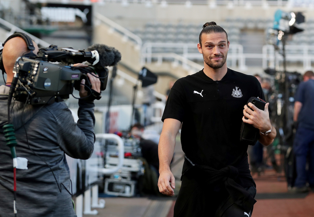 Newcastle United's Andy Carroll arrives at the stadium before the Premier League match with Brighton and Hove Albion at St James' Park in Newcastle September 21, 2019. — Reuters pic