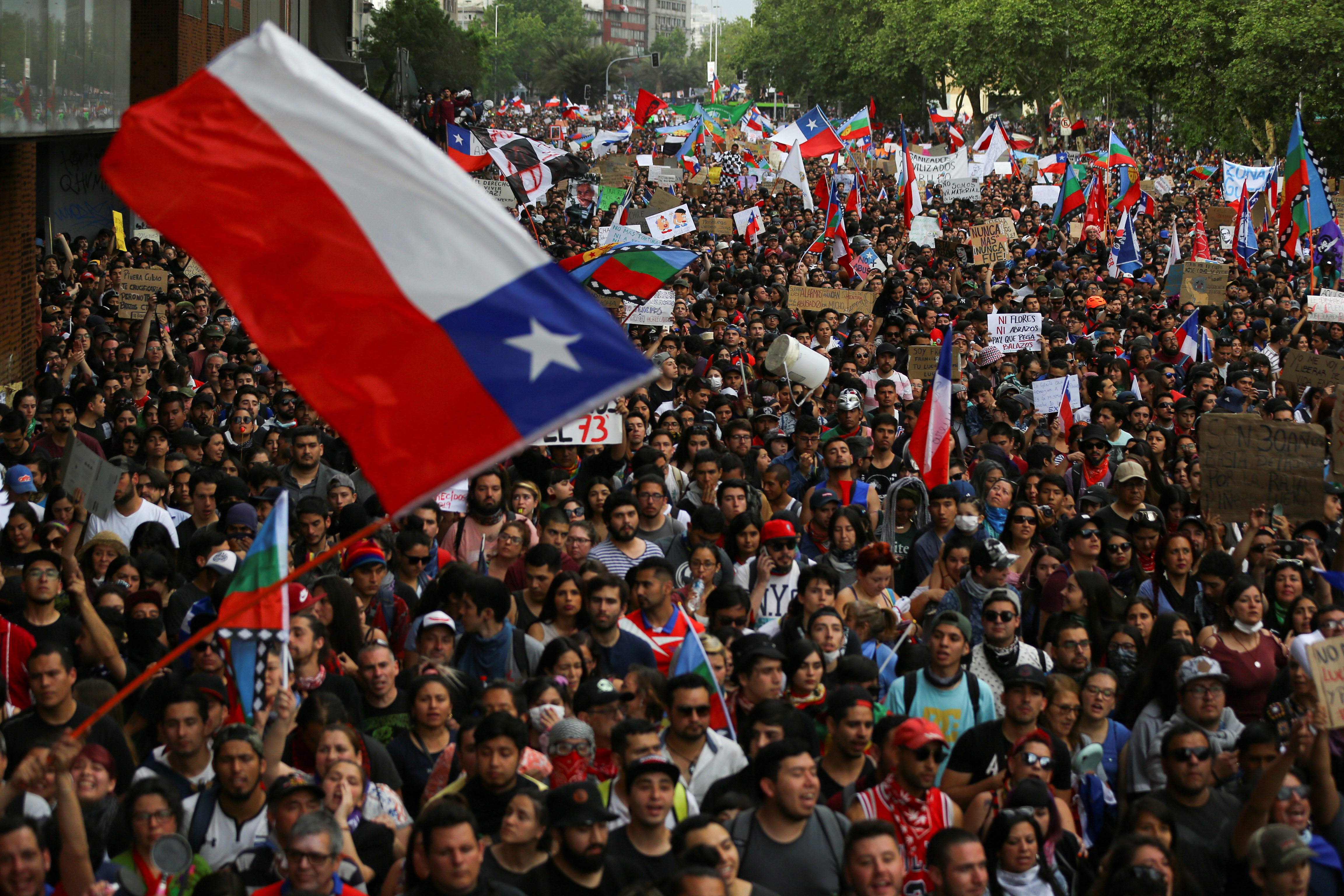 Chile announced yesterday that it would no longer host the Apec Leaders' Week and COP25 summit after civil unrest over income inequality descended into violence. — Reuters pic