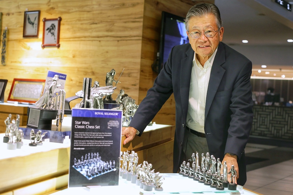 The septuagenarian is best known for being chairman of luxury pewter group Royal Selangor. — Picture by Ahmad Zamzahuri