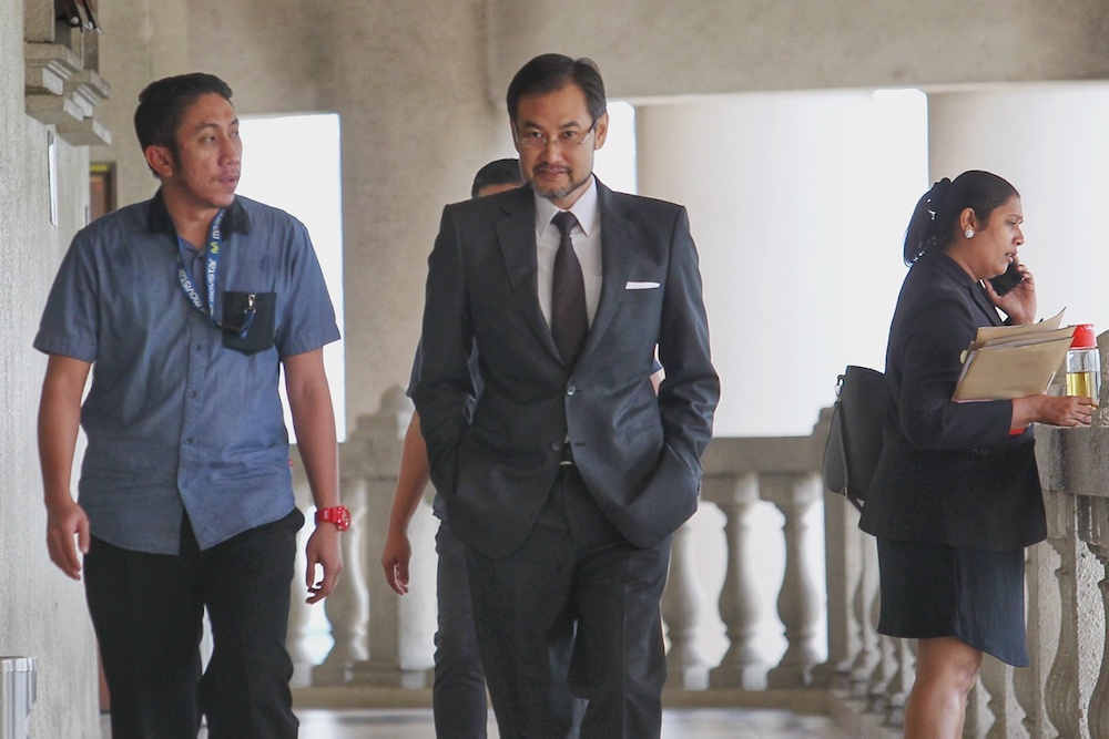 Former 1MDB CEO Datuk Shahrol Azral Ibrahim Halmi is pictured at the Kuala Lumpur High Court October 7, 2019. — Picture by Ahmad Zamzahuri