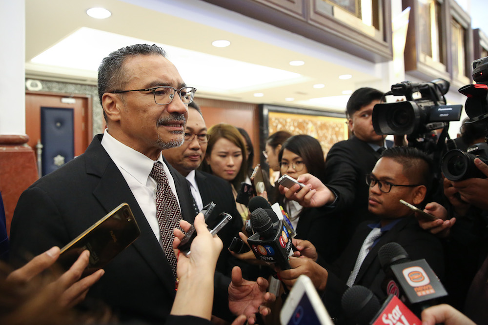 Datuk Seri Hishammuddin Hussein said Malaysia's Diplomatic Equipment Stockpile has received over 355,500 facemasks and financial contribution of RM250,000 so far. — Picture by Yusof Mat Isa