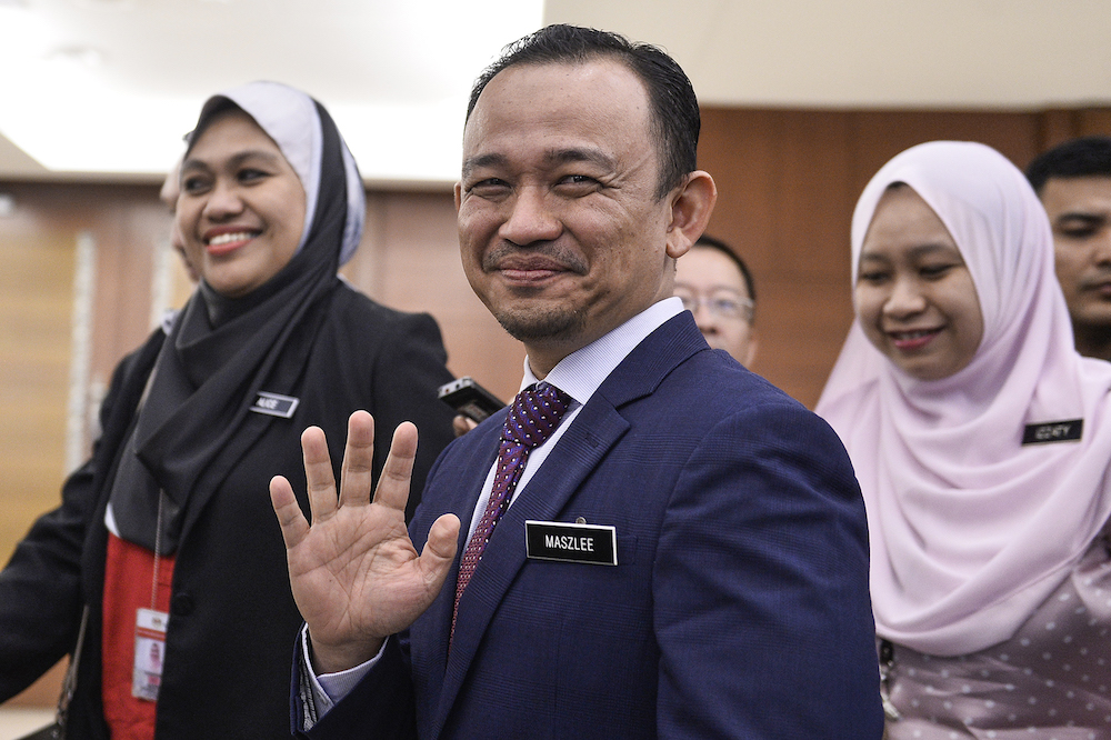 Maszlee Malik is pictured at Parliament in Kuala Lumpur October 9, 2019. — Picture by Miera Zulyana