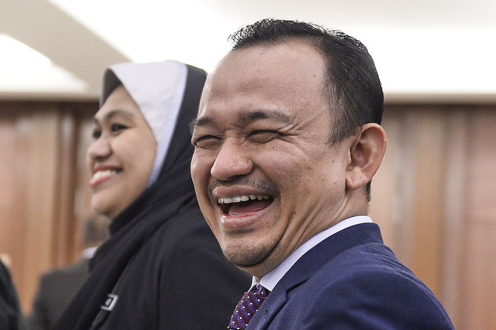 Maszlee Malik attends Parliament October 9, 2019. — Picture by Miera Zulyana