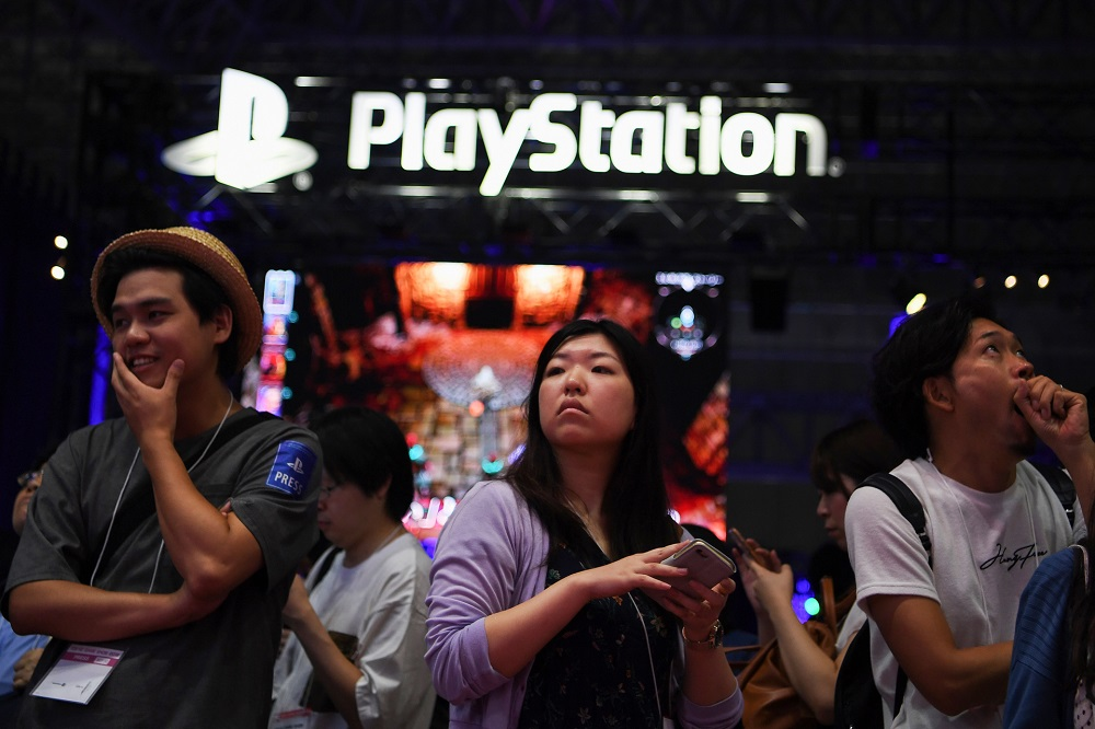A view of the PlayStation stand at the Tokyo Game Show, September 2019. — AFP pic